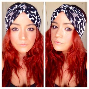 Faux turban in leopard