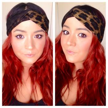 The skinny turban in ombre leopard